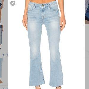 Frame Women's Blue Le Crop Mini Step Hem Jeans